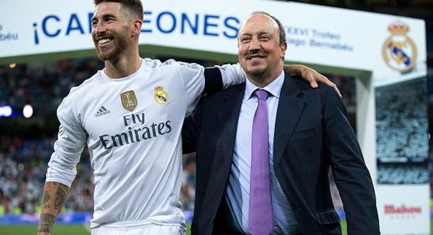 Серхио Рамос (слева) и Рафаэль Бенитес (справа), Getty Images