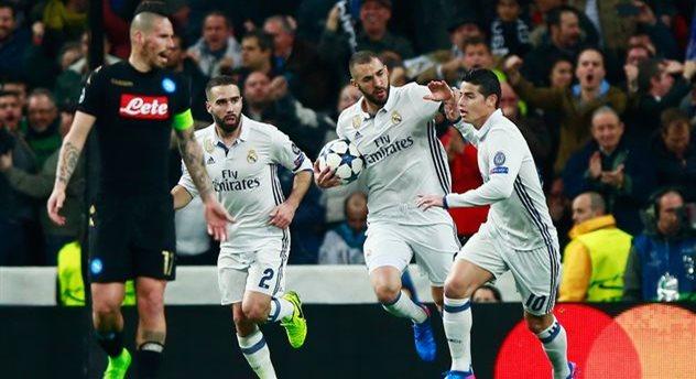 """«""""Реал"""" иНаполи» завершили 1-ый  тайм при ничейном счете"""