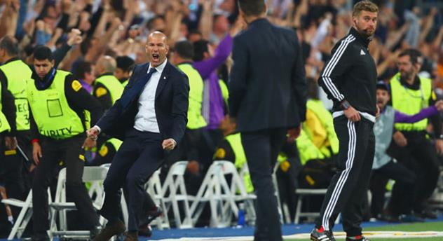 Зинедин Зидан радуется второму голу Криштиану Роналду, Getty Images