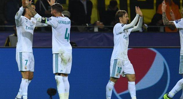 Роналду празднует гол в ворота Дортмунда, getty images