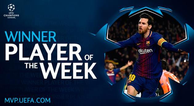 Месси — игрок недели в Лиге чемпионов