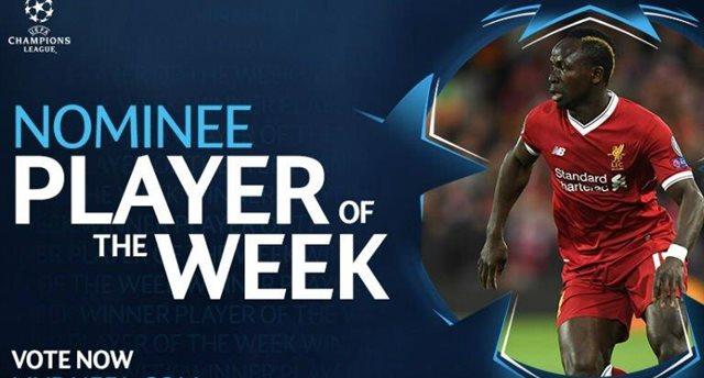 Мане— игрок недели вЛиге чемпионов