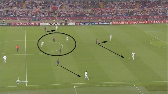 фрагмент матча Барселона