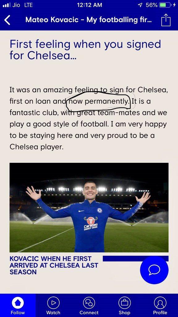 Челси случайно объявил о выкупе Ковачича до официального подтверждения - изображение 1