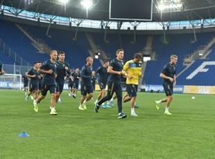 Тренировка сборной Украины в Днепре