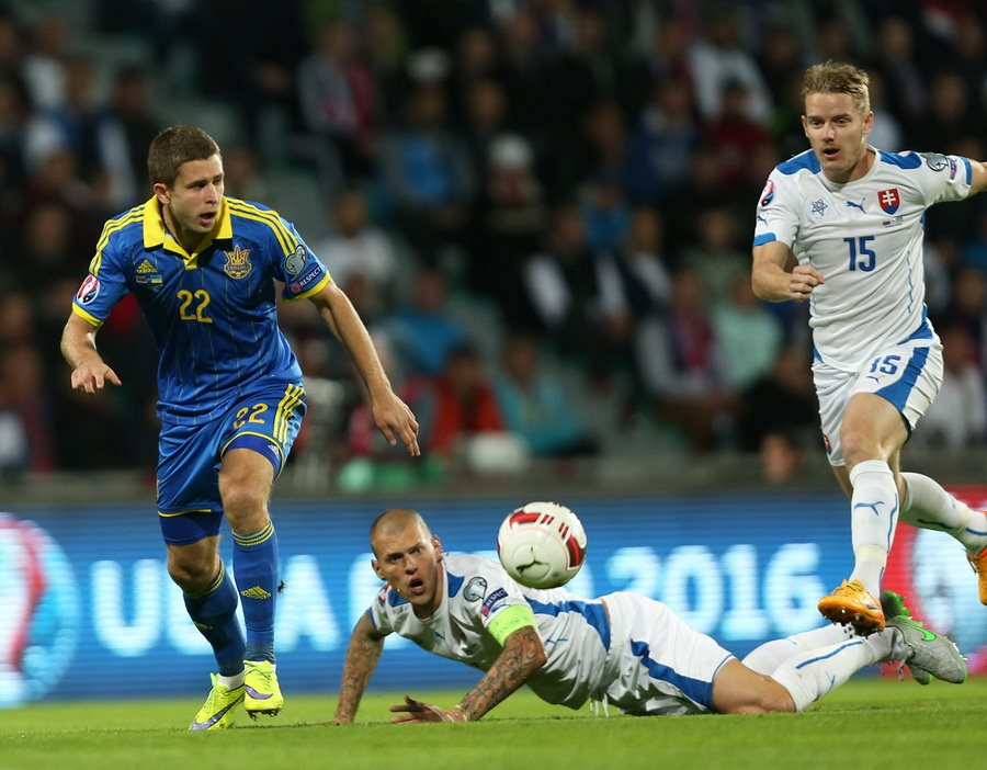 Словакия 0:0 Украина