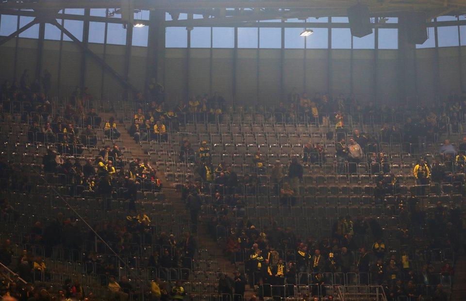 Болельщики на стадионе в Дотрмунде