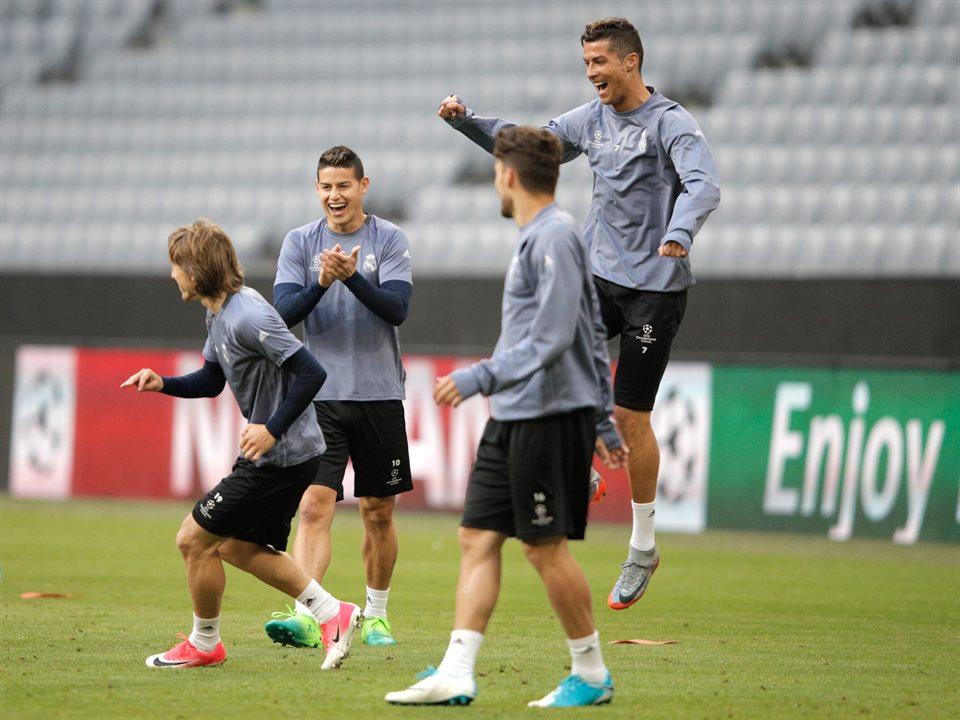 Как тренировался Реал перед битвой с Баварией