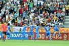 Гол Цитаишвили после прохода с центра поля в ворота Южной Кореи