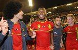 Бельгийцы празднуют победу над Сербией, Getty Images