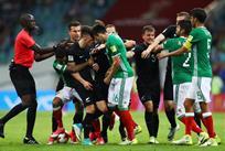 Драка в матче Мексика - Новая Зеландия, Getty Images