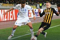 Жуниор Мораес противостоит соперникам, фото ФК Динамо