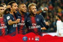 Игроки парижан радуются очередному голу, фото: твиттер ПСЖ