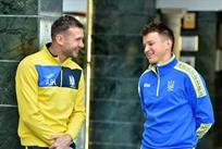 Андрей Шевченко и Руслан Ротань, фото Павла Кубанова, ФФУ