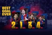 Месси занял все места в ТОП-3 во время голосования за лучший гол в истории Барселоны