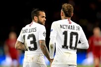 Алвес и Неймар, photo PSG FC