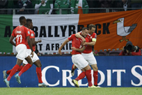Швейцария празднует победу, фото: twitter.com/sfv_asf