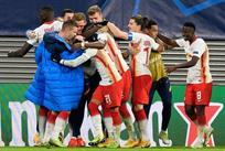 Радость игроков Лейпцига, фото getty images