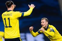 Швеция - Грузия, фото: twitter.com/svenskfotboll