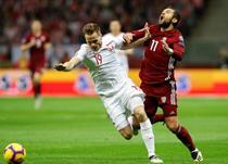 Томаш Кендзера в матче против Латвии