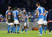 Игроки Наполи после матча с Дженоа, Getty Images