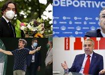 Мартин Преса (Райо), Фернандо Видаль (Депортиво), Пачета (Эльче) и Моисей Исраэль (Нумансия)