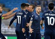 Празднование забитого мяча игроками Лацио, Getty Images