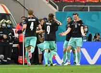 сборная Австрии в матче против Северной Македонии, Getty Images