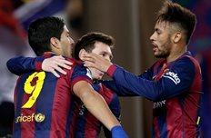 Атакующее трио Барсы, Getty Images