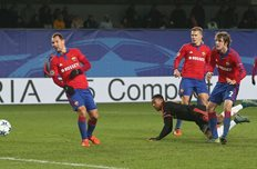 Мартиаль забивает в ворота ЦСКА, Фото Getty Images