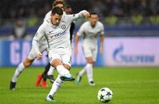 Азар забивает с пенальти, фото ФК Челси