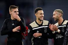 Игроки Аякса после ничьи с Баварией, Getty Images