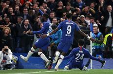 Челси отмечает гол в ворота Аякса, Getty Images