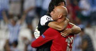 Радость игроков Малаги, фото que.es