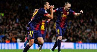 Педро празднует гол в ворота ПСЖ, Getty Images