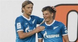 Тимощук и Аршавин, Getty Images