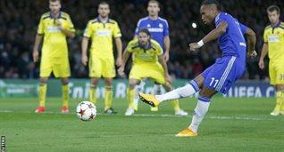 Дрогба забивает свой первый гол после возвращения, Reuters