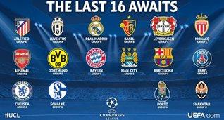 Коллаж официального твиттера Лиги чемпионов