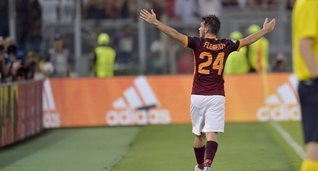 Флоренци отмечает гол, фото ФК Рома