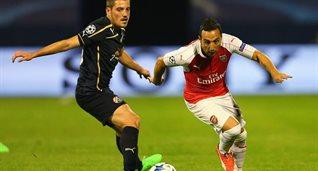 Возможная дисквалификация Арияна Адеми (слева) не поможет Арсеналу, Getty Images