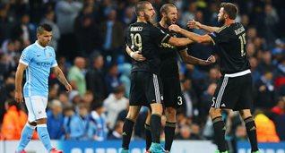 Ювентус уже побеждал Сити в этом сезоне, Getty Images