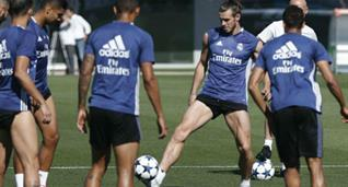 Бэйл тренируется с партнерами по команде, Marca