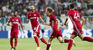 Олимпиакос уверенно прошел в групповой раунд Лиги чемпионов, twitter.com/olympiacos_org