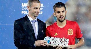 Дани Себальос - лучший игрок молодежного Евро-2017, Getty Images