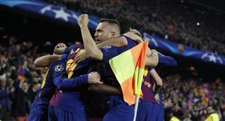 Радость игроков Барселоны, twitter.com/fcbarcelona