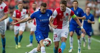 Томаш Кендзера в матче против Славии, twitter.com/slaviaofficial