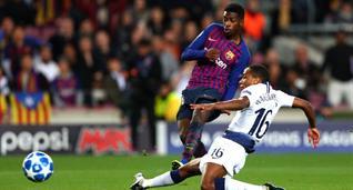 Дембеле — автор лучшего гола тура в Лиге чемпионов