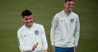 Альваро Мората (слева), УЕФА