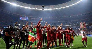 Как Ливерпуль победу в финале Лиги чемпионов в раздевалке праздновал