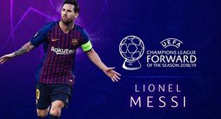 Месси — лучший нападающий Лиги чемпионов-2018/19
